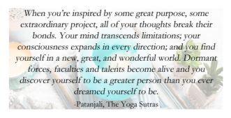 Inspiration from the Patanjali's Yoga Sutras