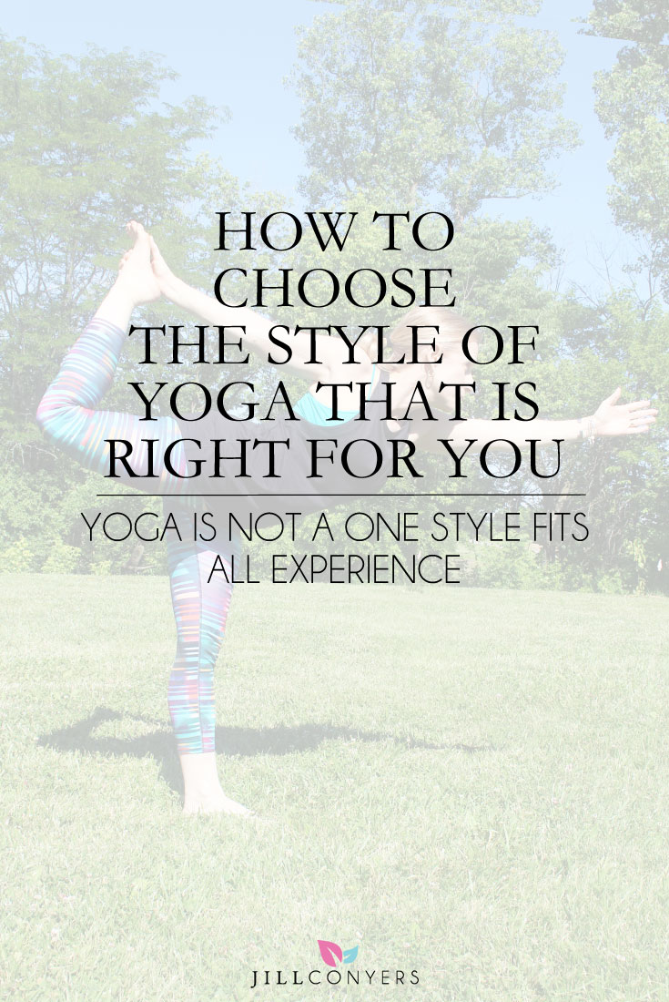 When choosing a yoga style that is right for you think about and feel what your body and mind need on a given day. Maybe you're looking for a hot sweaty workout or you're looking for restorative benefits. Maybe you need a spiritual experience with a compassionate approach. Click through and answer 4 questions to find your yoga style or pin it now to read later. @jillconyers