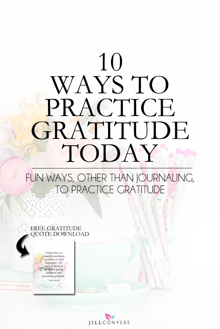 Focus on the positive things in your life and remind yourself that even when life is challenging, good things are still around you. With a regular gratitude practice you may begin to notice how the challenges have helped you gain insight or grow as a person. Click through to read the full article and download the FREE gratitude printable. @jillconyers