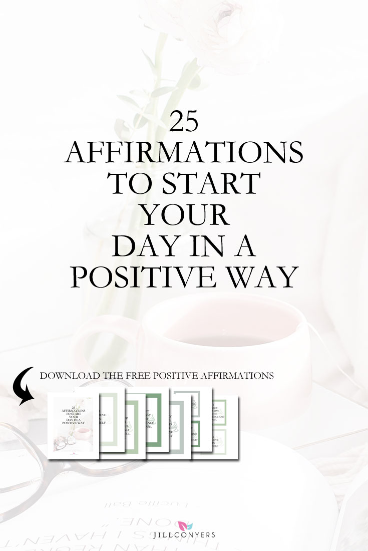"Create a habit of using daily affirmations and kickstart your day with a positive vibe and energy. Affirmations are positive, specific statements that help you to overcome self-sabotaging, negative thoughts. ""Whatever you hold in your mind on a consistent basis is exactly what you will experience in your life."" Click through to download the FREE positive affirmation posters. Pin it now to have more affirmations to use later. @jillconyers"