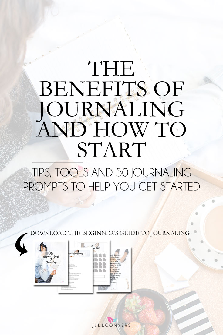 You can experience a greater sense of well being with #journaling. Putting your thoughts on paper can help you create a deeper self-awareness and a mindset of clarity. Click through to get the tips, tools and prompts I used to start journaling daily and to download the Beginner's Guide To Journaling now. Pin it now. #selfcare #selflove #wellness #mindful #healthyliving #mindfulness