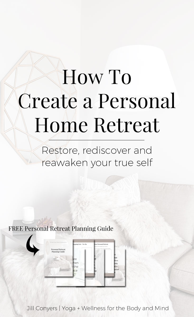 A place to escape to in the convenience of your own home expresses your commitment to self care- and a life well lived. Whether you want to do yoga, write, paint or just sit quietly, a space set aside in your home can help make the activity a relaxing ritual. Click through to download the Personal Retreat Planning Guide and Inspiration. Pin it now, share it with your friends. #selfcare #selflove #wellness #mindfulness #personalspace #retreat #metime #quotes
