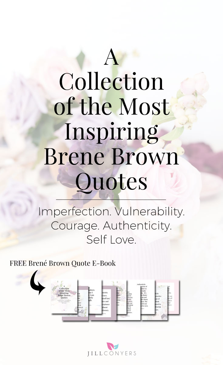 Inspiration from Brené Brown as she shares her personal quest to know herself and her dedication to understand humanity. Brené has a way with words that feel like she's talking specifically to you. Click through to download the free Brené Brown Quote E-Book. Pin it now, share it with a friend. #Imperfection #Vulnerability #Courage #Authenticity #Self Love #quotes #brenebrown #brenebrownquotes #inspiration