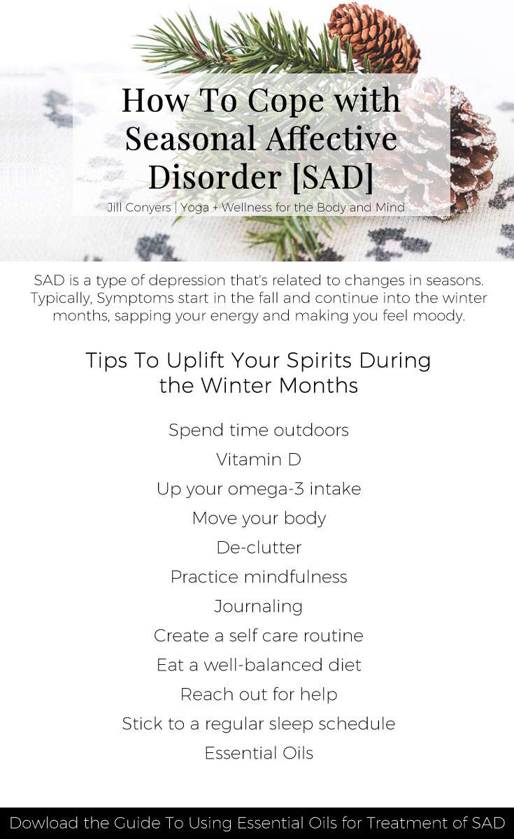 Do you have the Winter Blues?Onset of symptoms is typically occurs in the fall and continues through the winter months, right? How you're feeling may be Seasonal Affective Disorder, or SAD. The good news is natural remedies can be used to help treat SAD.Click through to lift your spirits during the winter months. #wellness #winter #SAD #seasonalaffectdisorder #wellbeing #selfcare