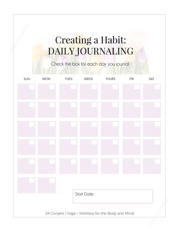 April Journaling Prompts and Inspiration | Putting thoughts and ideas on paper helps create a deeper self awareness and a mindset of clarity. Click through to download 30 journaling prompts for April along with a habit tracker and inspirational quote. Check back every month for more journaling prompts to inspire a new habit. #quote #journaling #wellness #selfcare #mindfulliving #selfcare