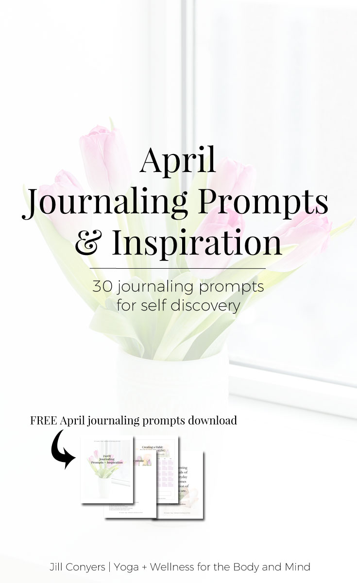 Putting thoughts and ideas on paper helps create a deeper self awareness and a mindset of clarity. Click through to download 30 journaling prompts for April along with a habit tracker and inspirational quote. Check back every month for more journaling prompts to inspire a new habit. #quote #journaling #wellness #selfcare #mindfulliving #selfcare