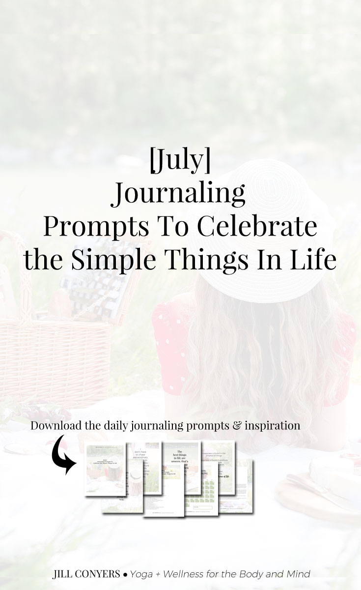 Journaling inspiration to celebrate the simple things in life that bring us joy and happiness, but are often overlooked and/or taken for granted. #journaling #journal #selfcare #mindfulliving #freeprintables