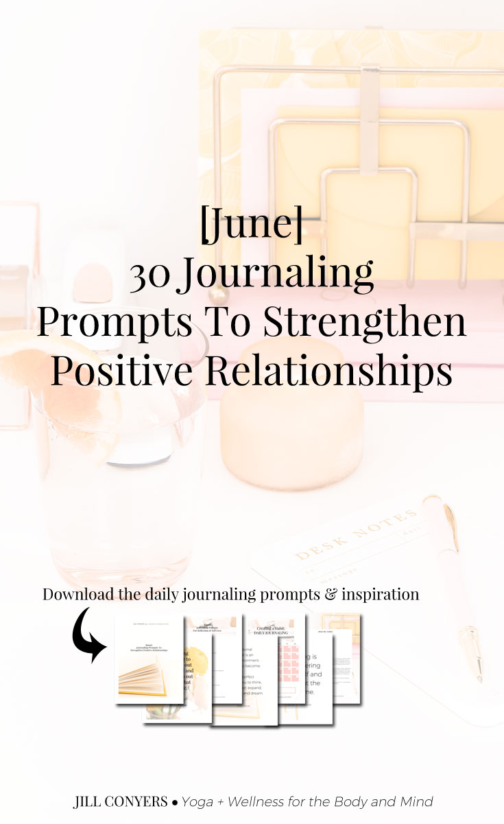 Use journaling to examine the loving relationships in your life and to deepen your connection with those closest to you. A personal journal gives you a judgment free zone to write about who you are and the things that are important to you. #journalingprompts #journaling #wellness #relationships #journalingquotes #selfcare