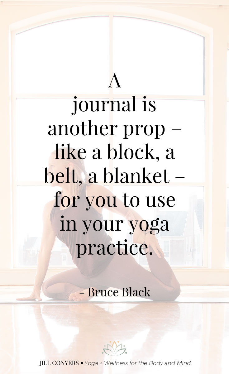 Journaling you can bring a depth of awareness that will enrich your yoga experience and enhance every aspect of your life. Click through to download Yoga Off the Mat, a yoga journal to deepen and inspire your practice. #yoga #yogaquote #yogajournal #wellness #yogainspiration