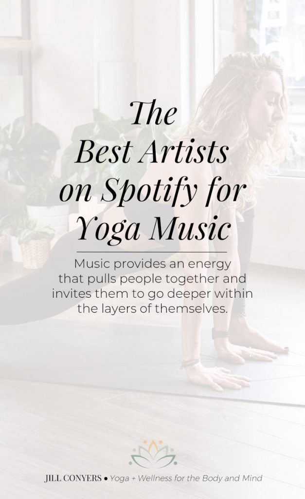 Music for a yoga practice can create the mood, generate positive vibrations and encourage grace within the pause and movement through asanas (postures). #yoga #music #playlist #yogaplaylist #spotify #wellness